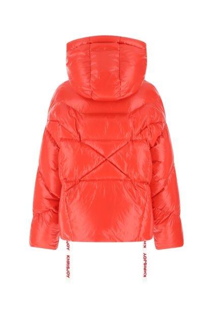 Red nylon Iconic Shiny down jacket