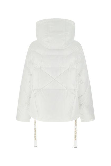 White nylon Iconic Shiny down jacket
