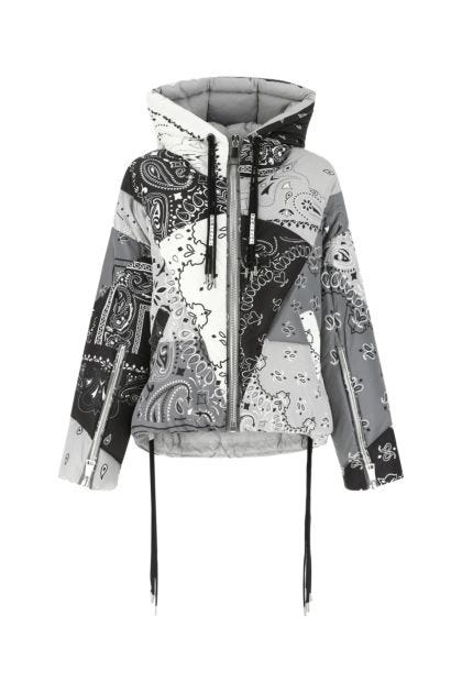 Printed polyester Khris Bandana down jacket