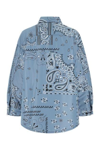 Printed polyester Puff Bandana oversize padded shirt