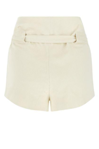 Ivory corduroy shorts