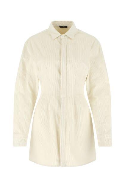 Ivory corduroy shirt