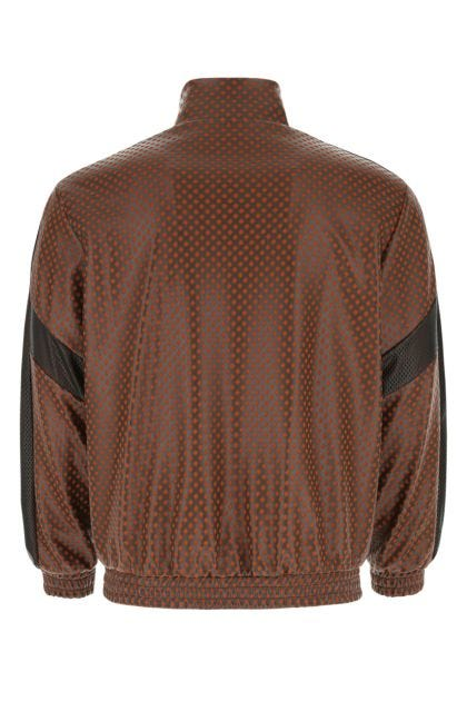 Multicolor polyester and synthetic leather sweatshirt