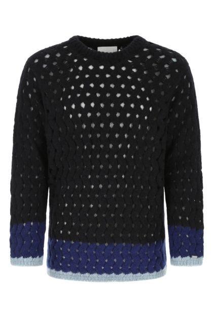 Multicolor alpaca blend sweater