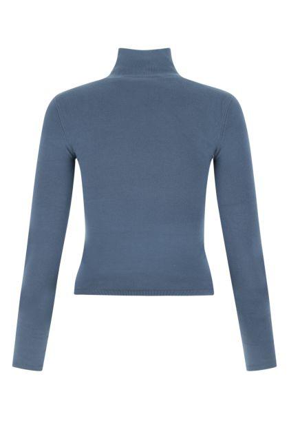Air force blue viscose blend sweater