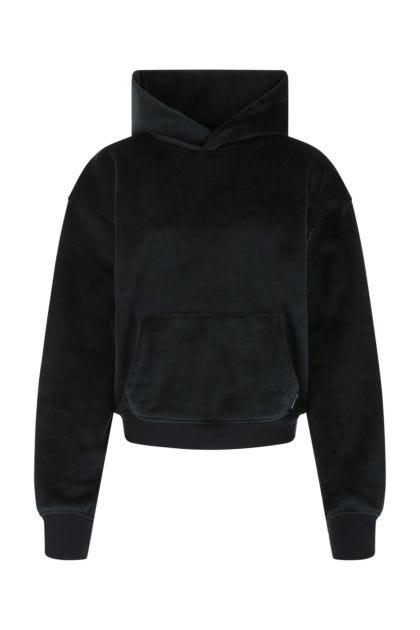 Midnight blue stretch chenille sweatshirt