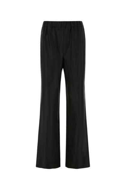 Black synthetic leather pant