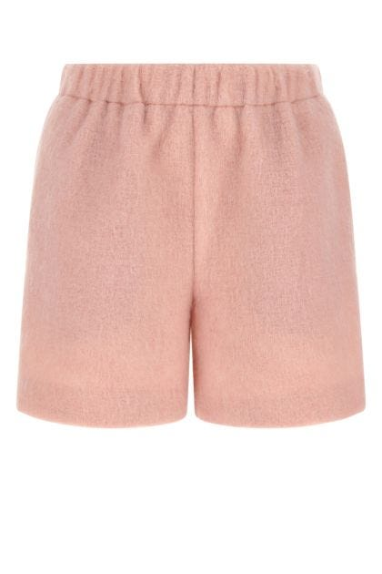 Pastel pink polyester blend shorts