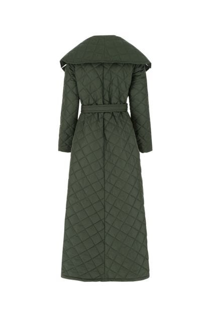 Dark green polyester coat