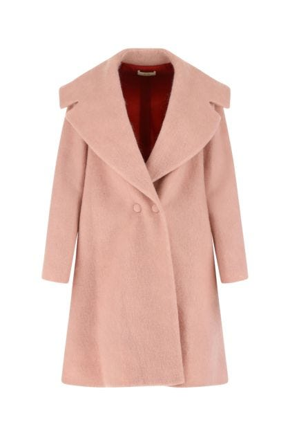 Pink polyester blend coat