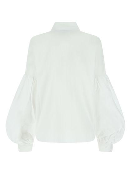 White stretch poplin shirt