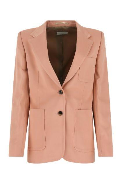 Pink satin blazer