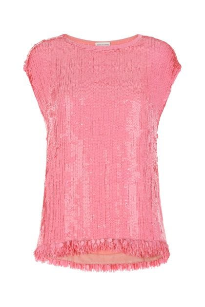 Pink sequins top