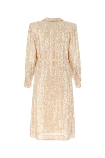Skin pink sequins dress