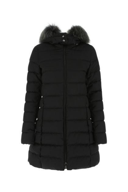 Black wool down jacket