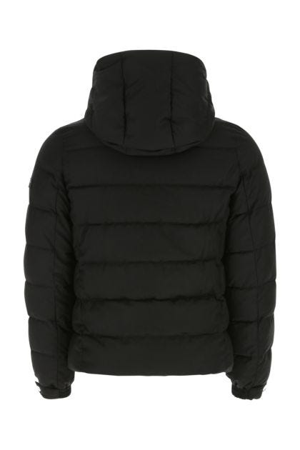Black wool blend down jacket