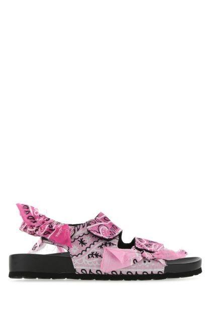 Printed fabric Apache sandals