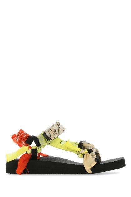 Multicolor fabric Trekky sandals