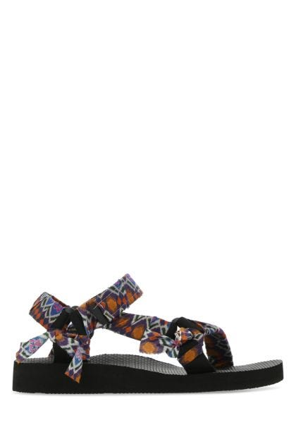 Printed fabric Trekky sandals