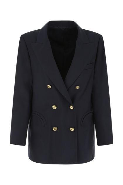 Navy blue wool blend First Class blazer