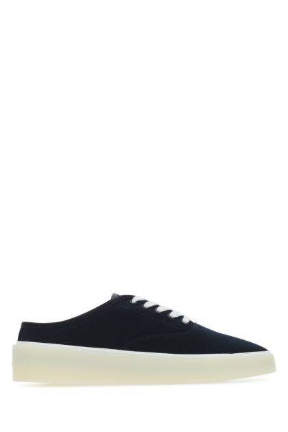 Midnight blue canvas 101 Backless sneakers