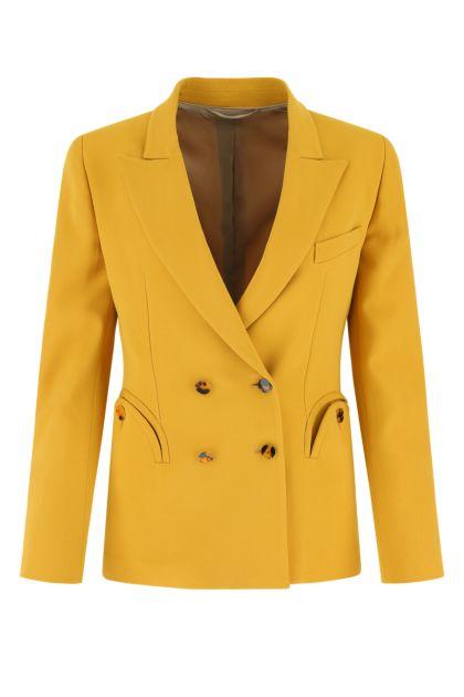 Ochre wool blend Charmer blazer