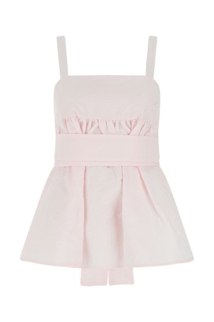 Pastel pink cotton blend top