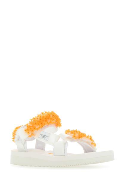 Embellished fabric Maria sandals