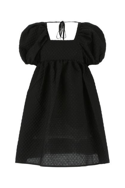 Black cotton blend dress