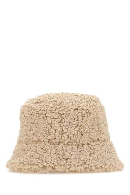 Sand eco shearling hat