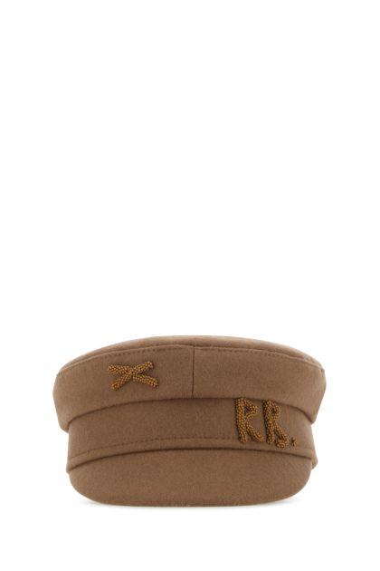 Biscuit wool blend baker boy hat