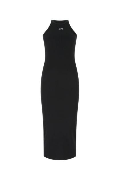 Black stretch nylon dress