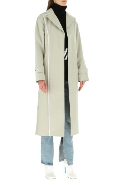 Sand cotton trench coat
