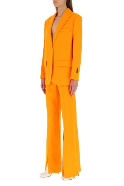 Orange crepe blazer