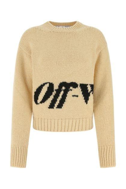 Sand wool blend sweater