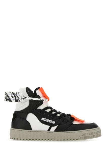 Two-tone leather and fabric 3.0 Off Court sneakers