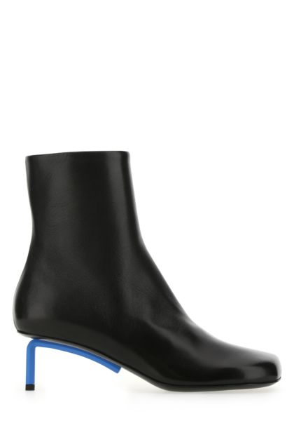 Black nappa leather Allen ankle boots