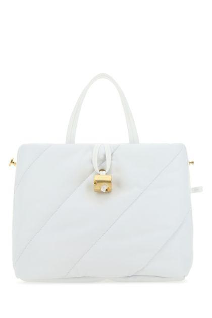 White leather Nailed handbag