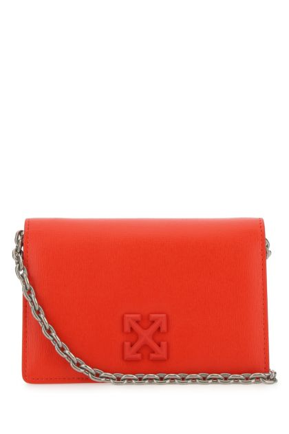Red leather Jitney 0.5 clutch