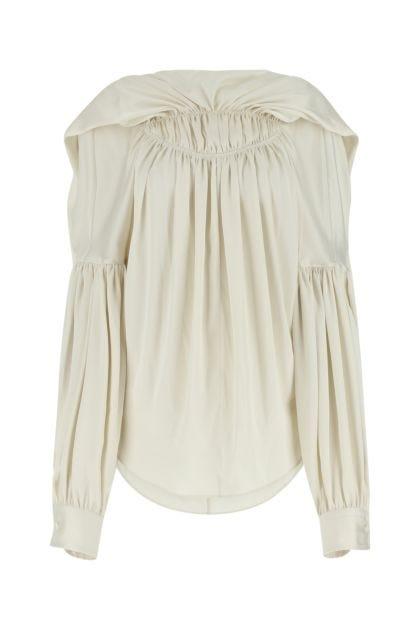 Sand satin blouse