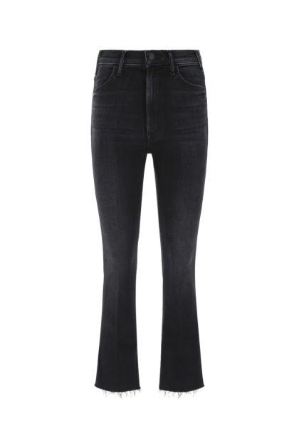 Black stretch denim The Hustler Ankle Fray jeans