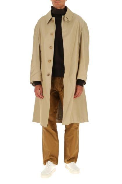 Cappuccino cotton blend coat