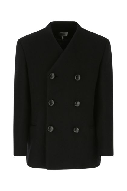 Black wool Ibrien coat