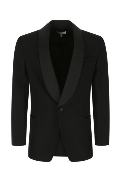Black wool Leno blazer