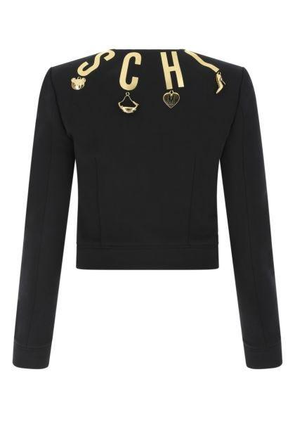 Black cotton blazer