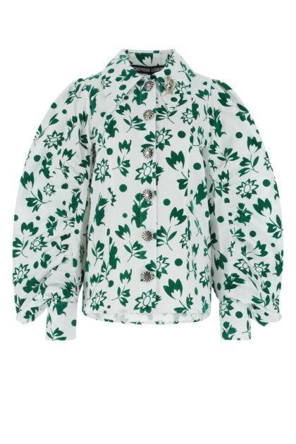 Printed poplin blouse