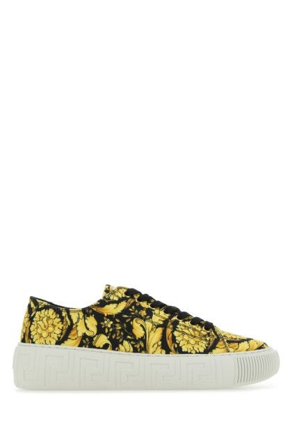 Printed canvas Greca sneakers