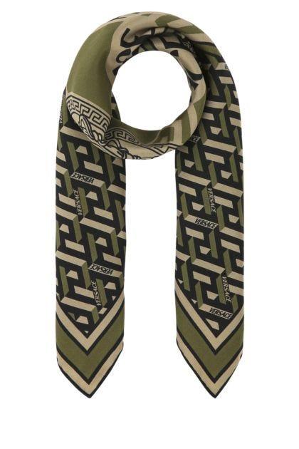 Printed silk foulard