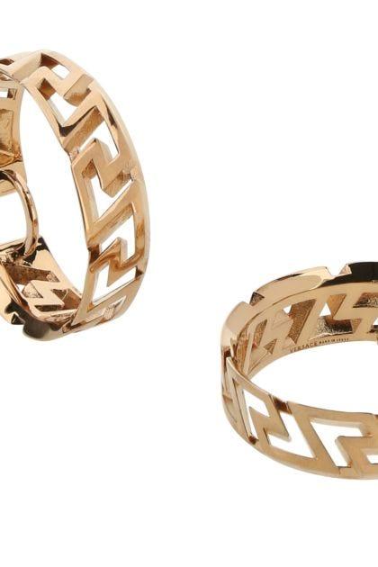 Gold metal La Greca earrings