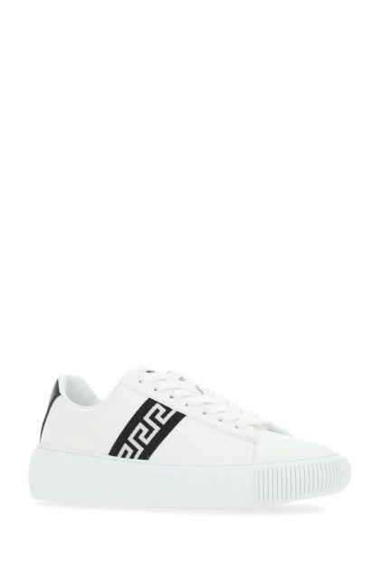 White leather Greca sneakers